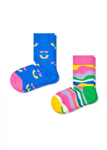 Happy Socks 2-pack Kids Rainbow