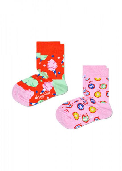 Happy Socks 2-Pack Kids Cotton Candy Sock