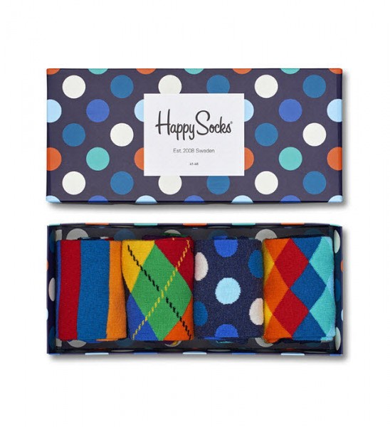 Happy Socks Mix Gift Box 4-Pack