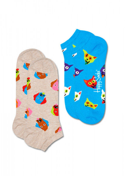 Happy Socks 2-Pack Dog&Cat Low Socks