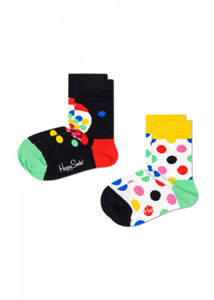 Happy Socks 2-Pack Kids Bubblegum