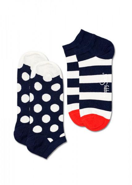 Happy Socks 2-Pack Big Dot Strip