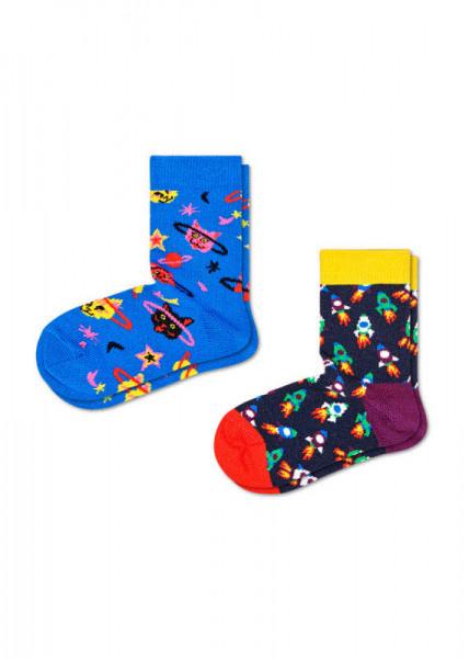 Happy Socks 2-pack Kids Space Cat